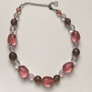 Chunky Necklace pink brown